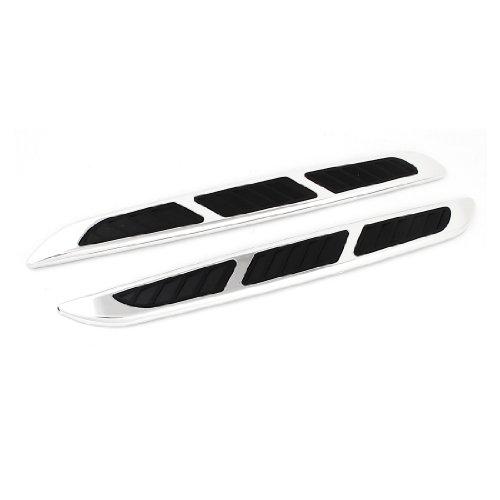 sourcingmapr-2uds-vehiculo-coche-delantero-trasero-parachoque-protecciones-proteccion-tiras-plata-ne
