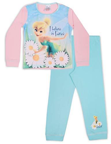 Disney Princess Kleiner Meerjungfrau und Tinkerbell Pyjama 18months to 3-4 Years - Tinkerbell Pink Aqua, Größe 98