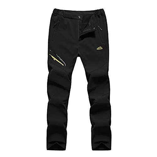 Mens Trek Stretch Fleece (Mens Outdoor Waterproof Breathable Quick Drying Thin Trousers Sportswear Hiking Climbing Cargo Pants Trousers Black Tag 5XL (Fit Height 72