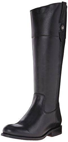 Frye Jayden Button Tall Damen Rund Leder Mode-Knie hoch Stiefel Schwarz