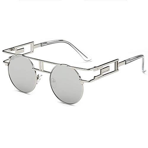 SHEEN KELLY Retro Steampunk sonnenbrille John Lennon männer frauen Metall rahmen runde brille marke designer spiegel linse Silber