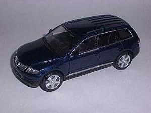 Welly Vw Volkswagen Touareg Bleu Ca 1/43 Welly Voiture Modèle