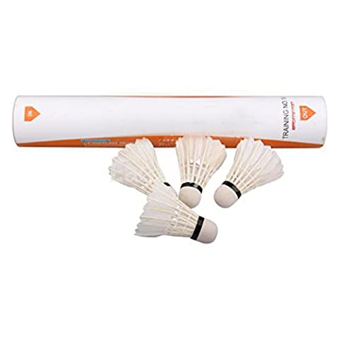Lot de 12 plumes d'oie volants de badminton