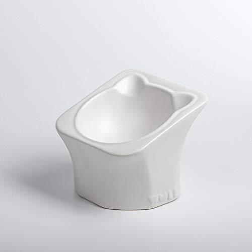 SZ-CWYP Pet Bowl Cat Bowl Keramik Katzenfutter Bowl Mode Katze Ohr Form flaches Gesicht Pet Cat Bowl,D