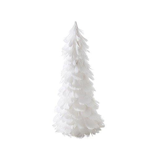partito-in-porcellana-argento-bianco-piuma-decorazione-albero-di-natale