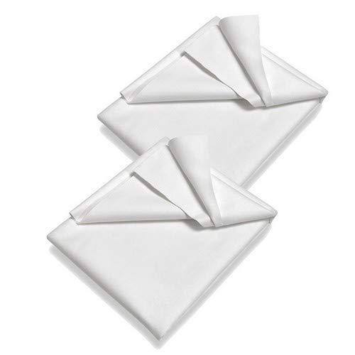 SETEX Molton Matratzenschutz, Doppelpack, 90 x 150 cm, 100 % Baumwolle, Generation, Weiß 14U2090150025002 Plaid Overlay