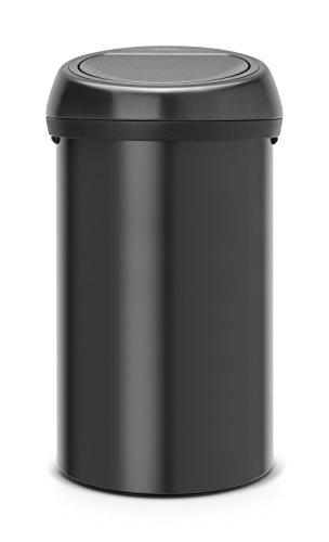 Brabantia 402562 Touch Bin Abfalleimer 60 l, matt schwarz 50 L Touch Bin