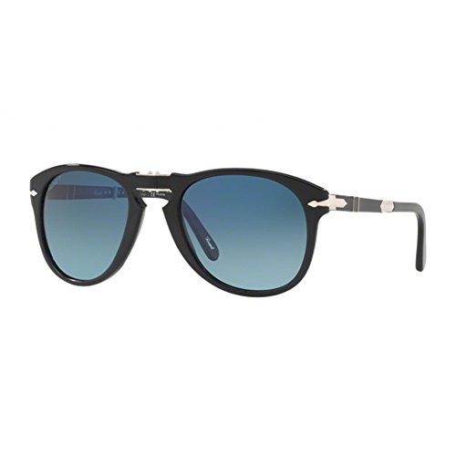 Persol Steve Mcqueen Limited Edition Po 0714Sm / blau schattiert 54/21/140 Männer Sonnenbrillen Schwarz