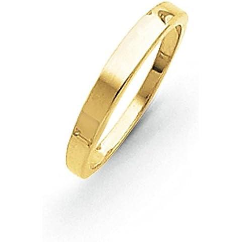 14K oro 3mm Tapered lucido anello a fascia, taglia I