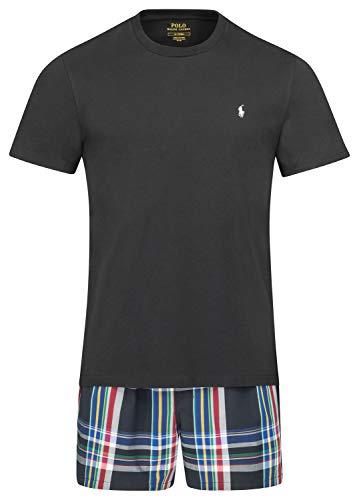 Polo Ralph Lauren Herren kurzer Schlafanzug Shorty T-Shirt und Web-Boxer Geschenkbox S Multi (001) - Ralph Lauren Herren-oberteile