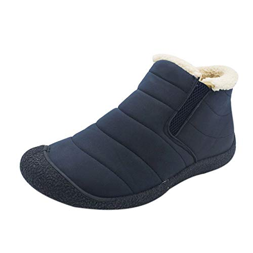 S&H-NEEDRA Chaussures Hommes, Mode Couple Hommes Femmes Chaussures Hiver Bottes Neige Fond AntidéRapant Bottes Chaudes