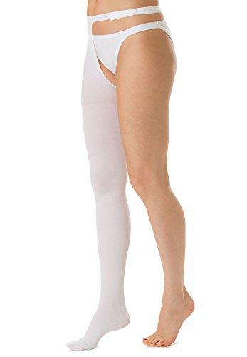 Relaxsan antitrombo m2380ra (bianco, xl) mono collant gamba destra punta ispezionabile per degenza antiembolismo k1 compressione graduata 18-23 mmhg