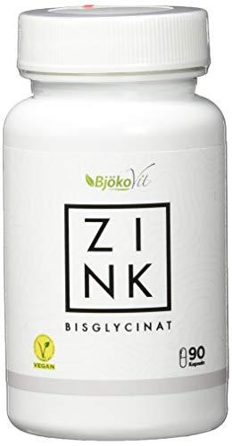 Zink Tabletten (Kapseln) von BjökoVit | 25mg Bisglycinat hochdosiert und vegan I Nahrungsergänzungsmittel ohne Zusatzstoffe | Kleine Zink Kapseln statt große Tabletten