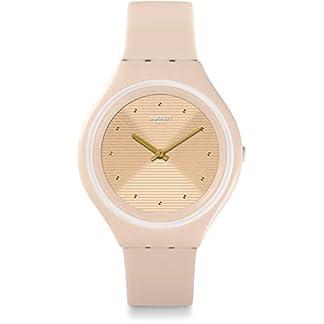 Swatch Reloj Digital de Cuarzo para Mujer con Correa de Silicona – SVUT100