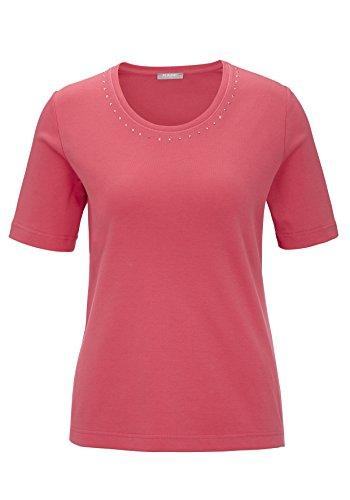 Unbekannt - T-shirt - Col Ras Du Cou - Manches Courtes - Femme Lampone