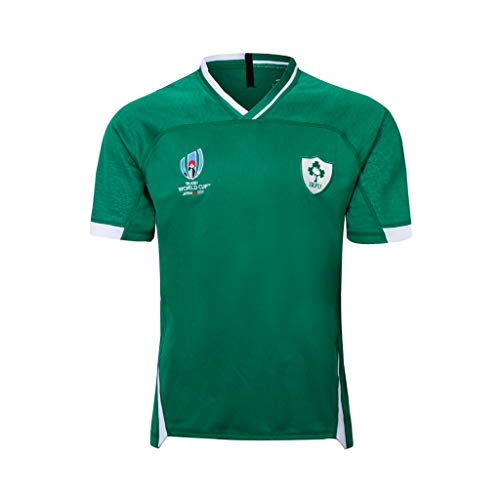 CRBsports Squadra Irlanda, Maglia da Rugby, Coppa del Mondo, Edizione Home, Nuovo Tessuto Ricamato, Abbigliamento Sportivo Swag (Verde, S)
