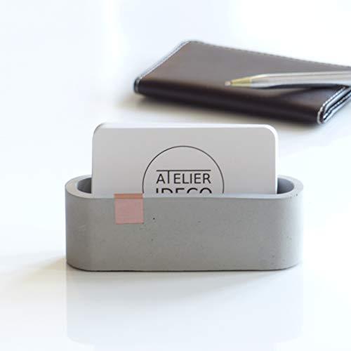 Atelier Ideco - Grauer Une Roségold Konkreter Visitenkartenständer Für Schreibtisch
