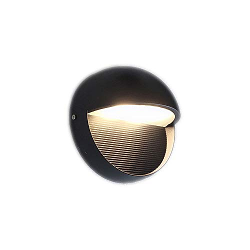 YLSMN Außenwandleuchte LED wasserdicht Runde Persönlichkeit kreative Korridor Gang Hintergrund Wandleuchte Garten Balkon Außenwandleuchte led nachtlicht -