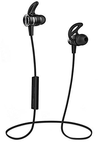 Bluetooth-ohr-stecker (Bluetooth Kopfhörer, ATGOIN Bluetooth 4.1 In-Ear Kopfhörer, Magnetische Kabellose Kopfhörer Wasserdicht Stereo-Sportkopfhörer mit Mikrofron, 6h Wiedergabezeit für Workouts)