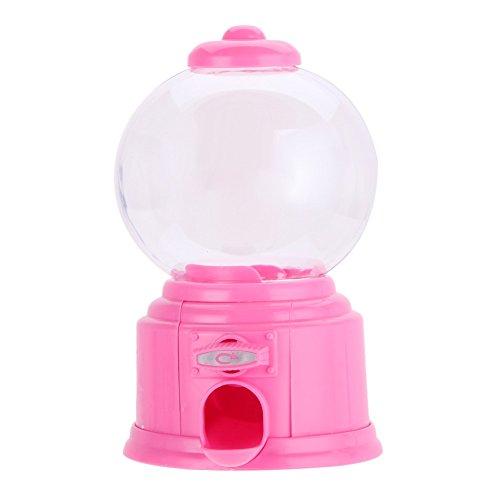 vanpower Mini Candy Machine, Bubble Gumball Spender Kunststoff Münzbank Spardose Aufbewahrung Box Kinder Spielzeug Kinder, Plastik, Rose, 14.5 x 8.7cm