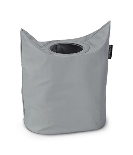 Brabantia Laundry Bag Oval Portabiancheria, 50 L, Grigio