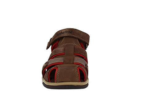 Timberland Park Hopper Fisherman Junior Plotting Soil Leather Flat Sandals Plotting Soil