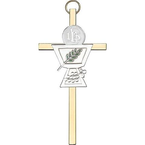 Icecarats Designer Di Gioielli 4 Pollici Oro Antico Comunione Calice In Ottone Croce 4 X 2 Pollici