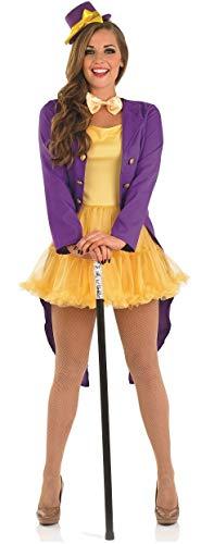 Fancy Me Damen 4 Stück Sexy Buch Schokolade Besitzer Zirkusdirektor Zirkus Karneval Halloween Buch Charakter Woche Kostüm Kleid Outfit 8-22 Übergröße (UK 8-10)