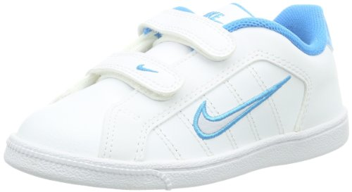 NIKE Court Tradition 2 Plus (TDV) 407929-140, Scarpe primi passi Bambino Bianco (Weiß (White/Pure Platinum/Vivid Blue)