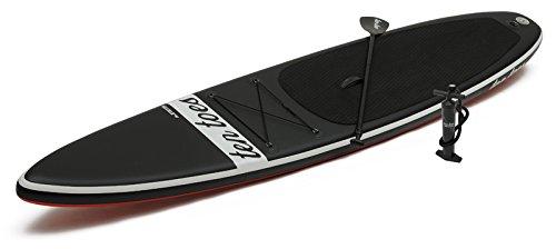 Ten Toes Board Emporium Jetsetter aufblasbares Stand-Up-Paddelboard - Schwarz/rot, X-Large/35,56 cm -