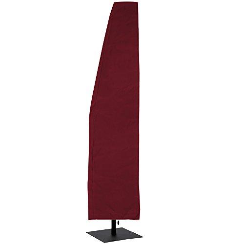 chirm【bis 3 / 3,5 m】✔ Rot ✔ Größenauswahl ✔ Farbauswahl - Ampelschirm Abdeckhaube Abdeckung Hülle Plane (Rote Sonnenschirm)