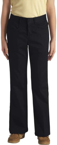 Dickies - - 71-369 Mädchens Stretch Flare Pant Bottom (Größen 4-6x), 4S x, Black (Pant Bottom Flare Mädchen)