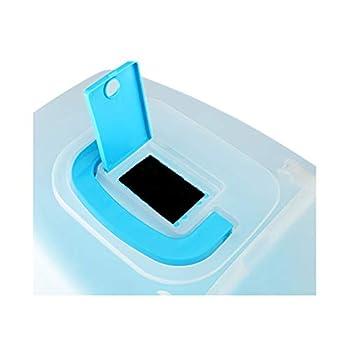Wcx Rotin Toilette Chat,Animal Compagnie Provisions Prévention des Éclaboussures Toilette pour Chat Énorme Entièrement Clos 560x385x420mm (Couleur : Bleu)