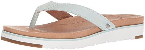 UGG Women's Lorrie Flat Sandal, Aqua, 5 M US - Aqua Leder Boot