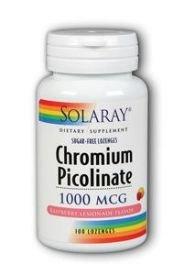 Solaray 1000 mg Chromium Picolinate Capsule - Pack of 100 by Solaray