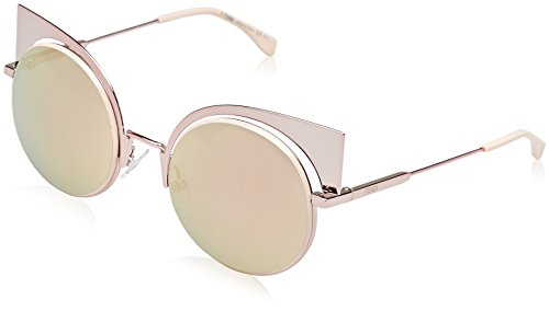 Fendi Damen FF 0177/S 0J Z5D Sonnenbrille, Pink Rose Gd Grey Speckled, 53