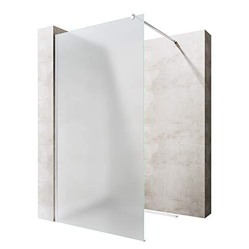 Sogood Luxus Duschwand Duschabtrennung Bremen2VS 100x200 Walk-In Dusche mit Stabilisator aus Echtglas 10mm ESG-Sicherheitsglas Klarglas inkl. Nanobeschichtung