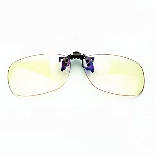 Preisvergleich Produktbild Cyxus blau Licht-Filter UV-Blocker Gläser [Clip auf] Anti-Belastung der Augen (Schlafen besser),  blendfrei,  Computer / Handy / PC Game / TV Sicherheit Schutz Block Strahlung Lesen Eyewear