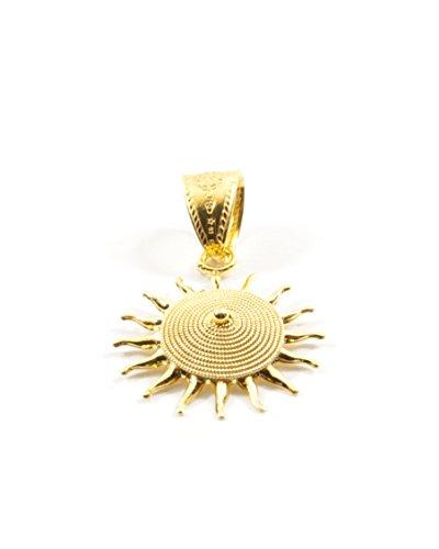 Ciondolo sole corbula oro giallo 18kt