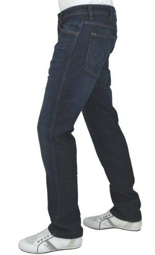 Wrangler Herren Jeans Arizona Stretch Worn Broke Blau (Grey To Green 42H)