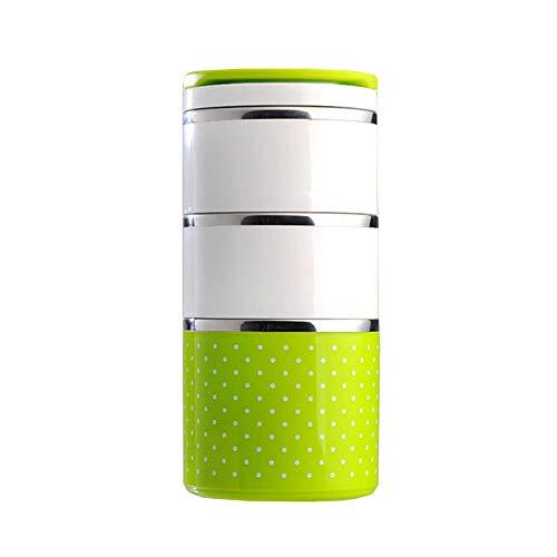SONGLULU Edelstahl isoliert Eimer Bento-Box Student Cup Pot Erwachsenen Multi-Layer-Lunch-Box 3-Layer-Topf Student Office Worker Lunch-Box geschichtet Outdoor isoliert Lunch-Box große Kapazität