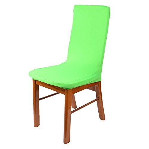 DealMux en Spandex Maison fête de Mariage élastique lavables réutilisables Siège de la Chaise de la Couverture de Protection Vert
