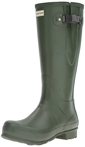 Hunter Men's Norris Field Adjustable Wellington Boot, Green, UK10