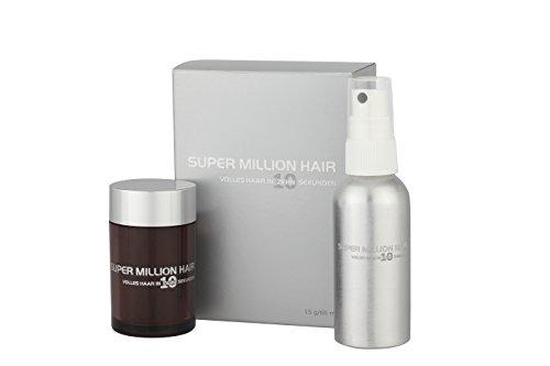 Super Million Hair Kennenlernangebot Schütthaar Streuhaare Haarverdichtung 10 g / 60 ml Light-Gray (13)