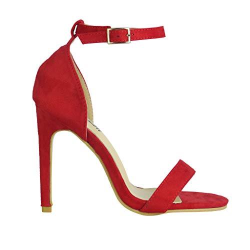 BeMeesh Damen Damen Stiletto High Heel Knöchelriemen Sandalen Pumps Peep Toe Schuhe Stiletto Heel Pump