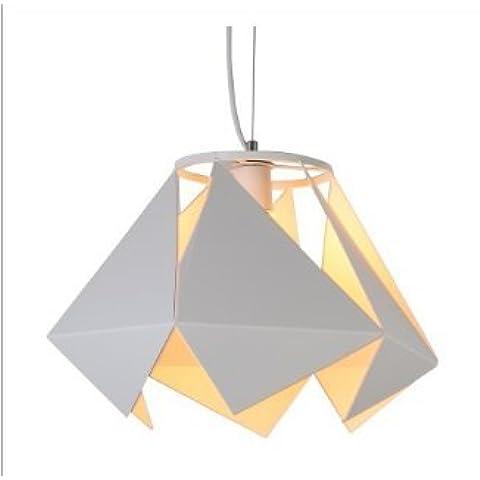 Lampadario di ferro battuto a forma di diamante industriale vento