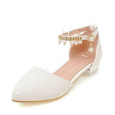 LvYuan Da donna Sandali Comoda D'Orsay Finta pelle Estate Casual Formale Comoda D'Orsay Perle di imitazione Basso Bianco Beige Blu Rosa2,5 - 4,5 blushing pink