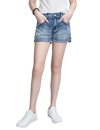 Demon Hunter 601 Shorts Series Mujer Pantalones Vaqueros Cortos Jeans ... d6946ef13ee