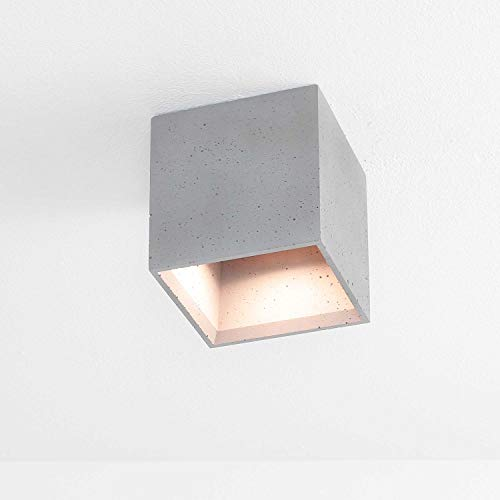 Montaje Foco hormigón gris compacta rectangular urbaner estilo GU10L14cm plafón Piso de...