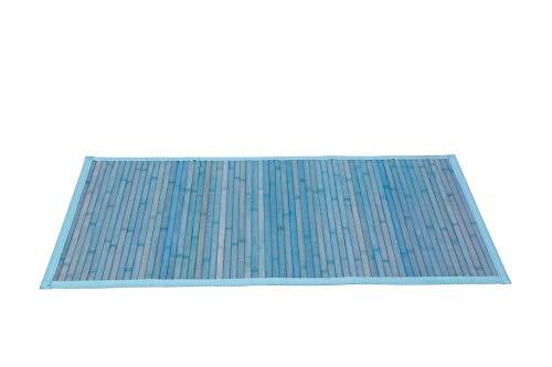 Thesecrethome.es Alfombra BAMBÚ 60x110cm Verde Agua | Antideslizante | | Ideal para Decorar SALÓN...